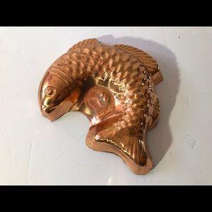 Vintage Copper Fish Mold.